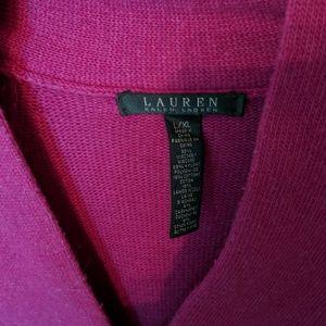 Ralph Lauren Sweaters - Ralph Lauren purple large extra large knit poncho